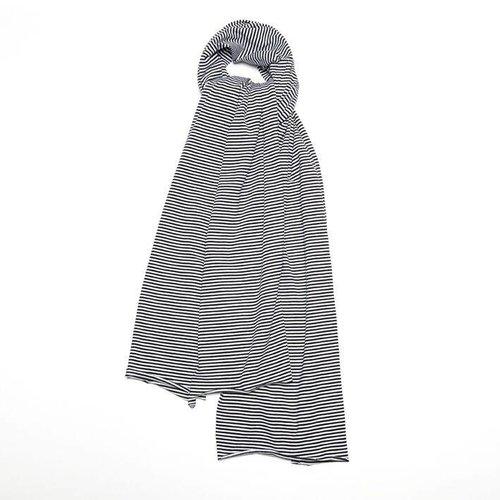 MINGO Sjaal XL B/W Stripes zwart wit