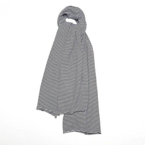 Scarf XL B/W Stripes black white
