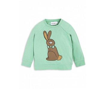 Mini Rodini Rabbit SP LS Cuff Tee green