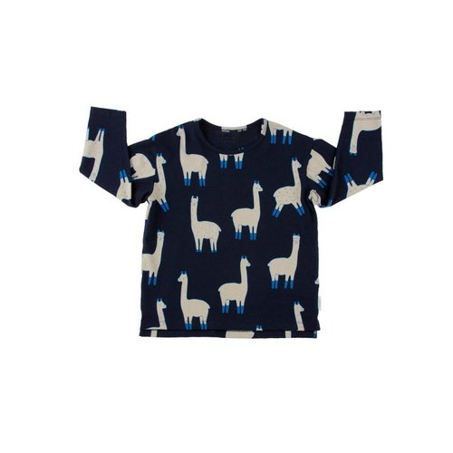 Tinycottons llamas ls relaxed tee