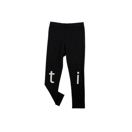 Tinycottons t-i-n-y logo pant zwart