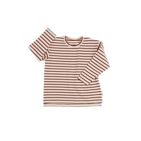 Tinycottons Stripes tee beige/bordeaux