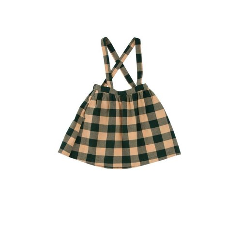 Tinycottons Check woven brace skirt
