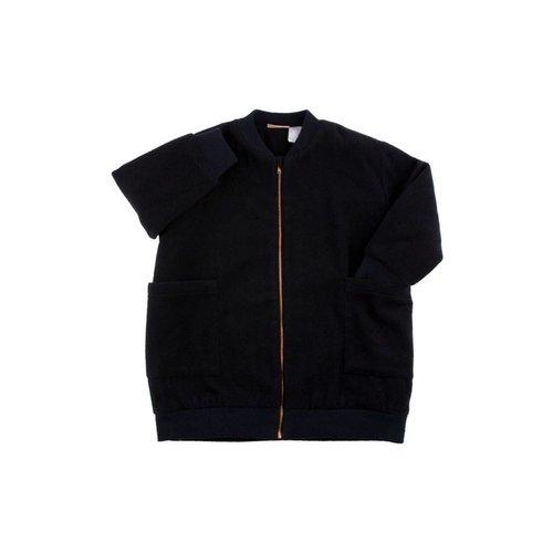 Tinycottons Woolen coat dark navy
