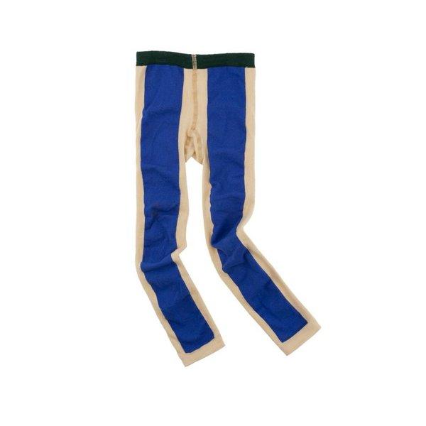 Long line legging beige/blue