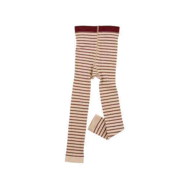 Stripes legging beige/bordeaux