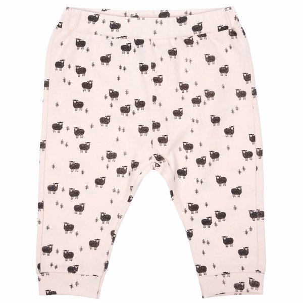 Jersey harem pant rose all-over Moutons