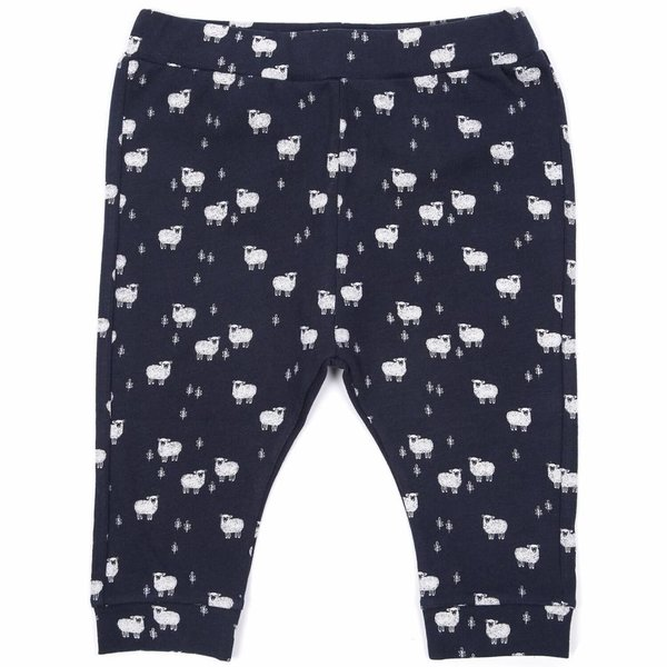 Jersey harem pant Marine all-over Moutons
