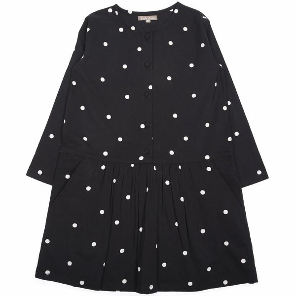 Dress Robe Pois Noir