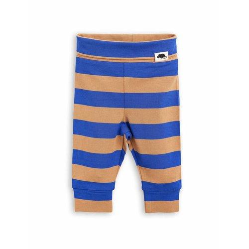 Mini Rodini Blockstripe Leggings NB blue