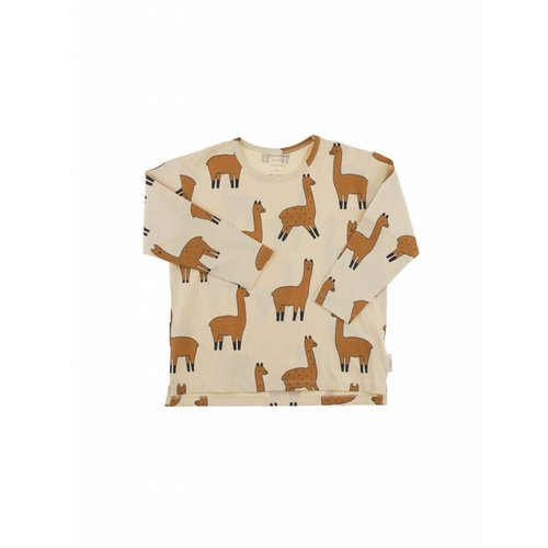 Tinycottons llamas ls relaxed tee Beige
