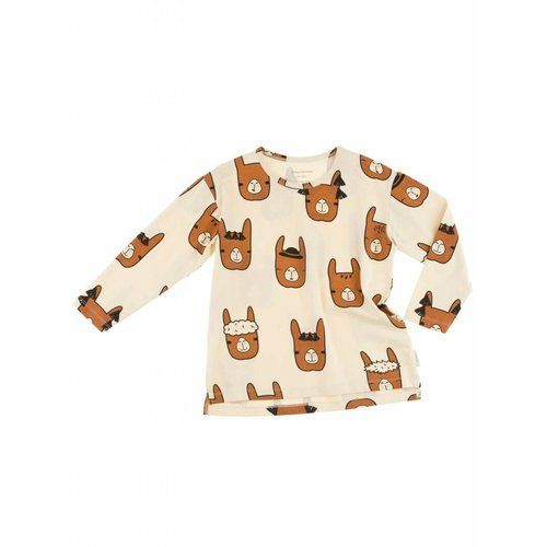 Tinycottons llama heads ls relaxed tee