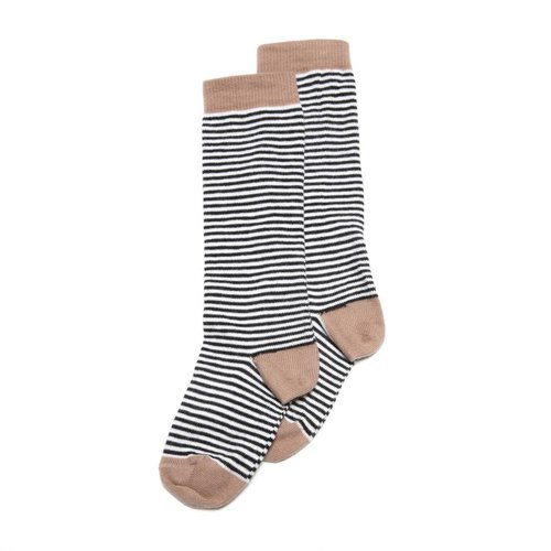MINGO Knee socks striped/dusty raw hide