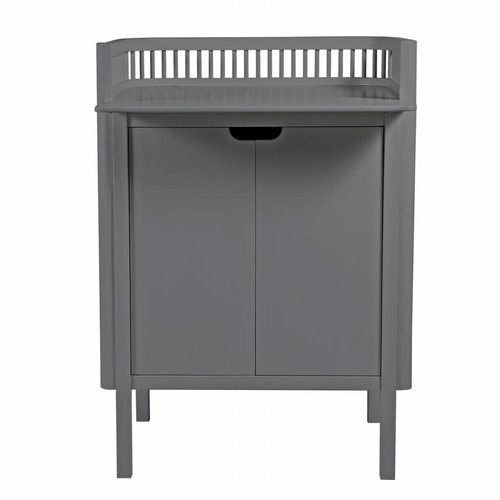 Sebra changing unit with doors grey wood