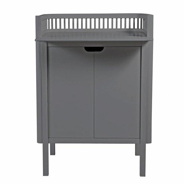 commode met deuren grijs hout