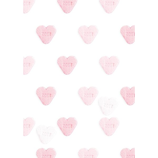 Roze hartjes behang