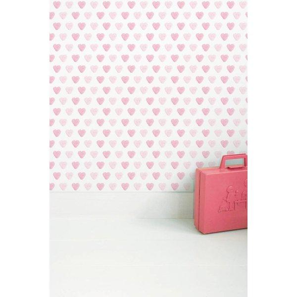 Pink hearts wallpaper