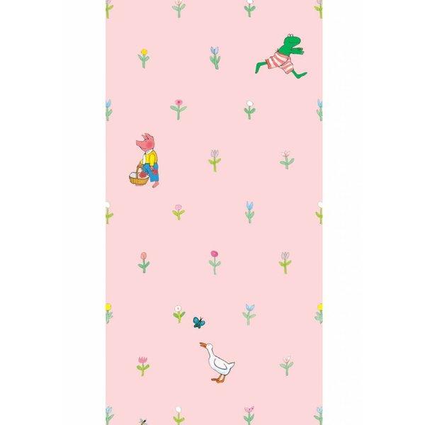 Kikker Behang roze