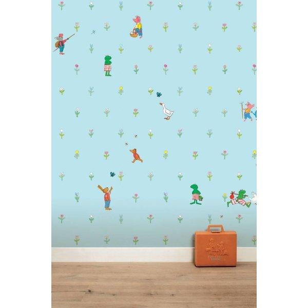 Kikker wallpaper blue