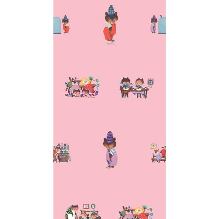 KEK Amsterdam Busy bears wallpaper pink