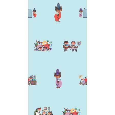 KEK Amsterdam Busy bears wallpaper blue