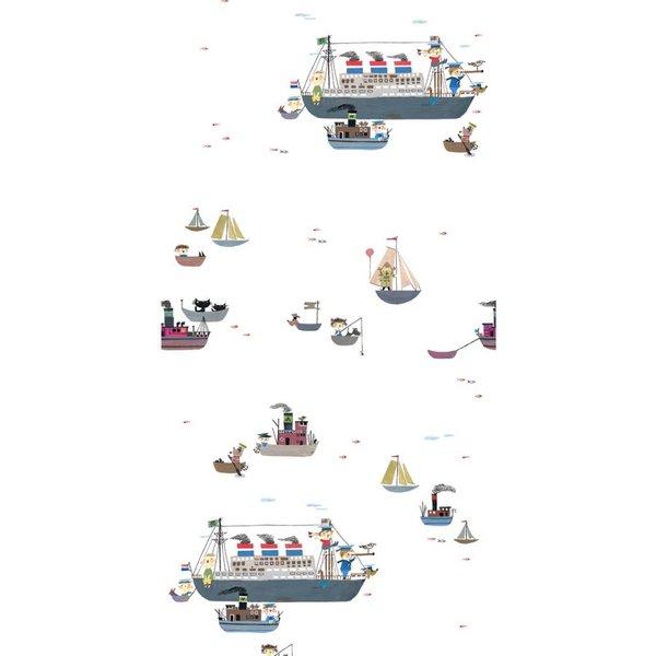 Holland Amerika lijn Bootjes Behang