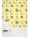 Forest friends wallpaper yellow