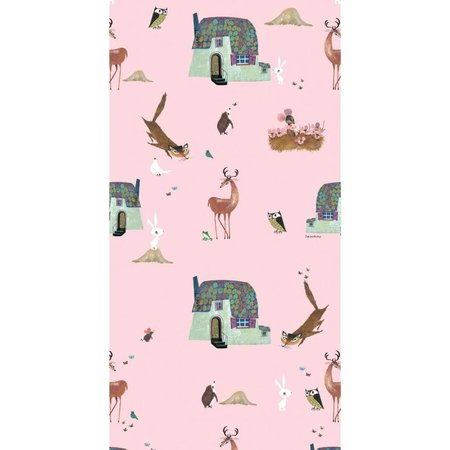 KEK Amsterdam Bosvrienden behang roze