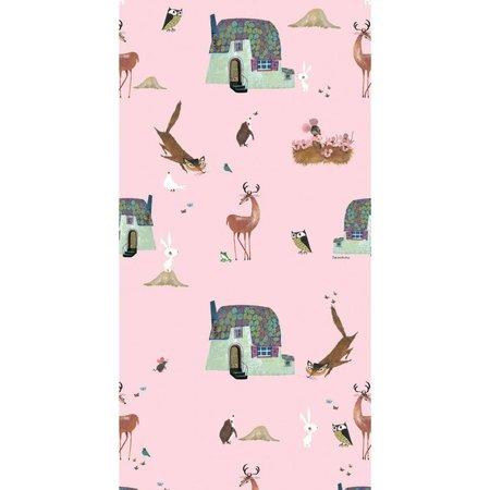 KEK Amsterdam Forest friends wallpaper pink