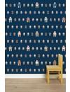 Rijkswachters Robots wallpaper navy small