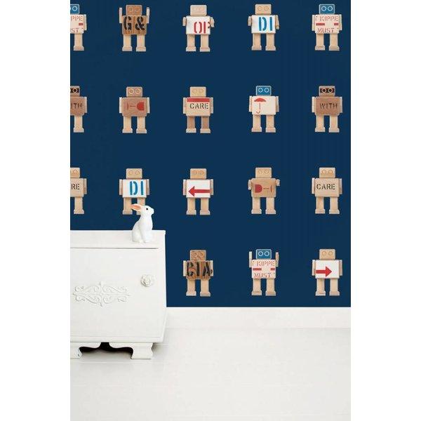 Rijkswachters Robots wallpaper navy