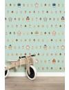 Rijkswachters Robots wallpaper green small