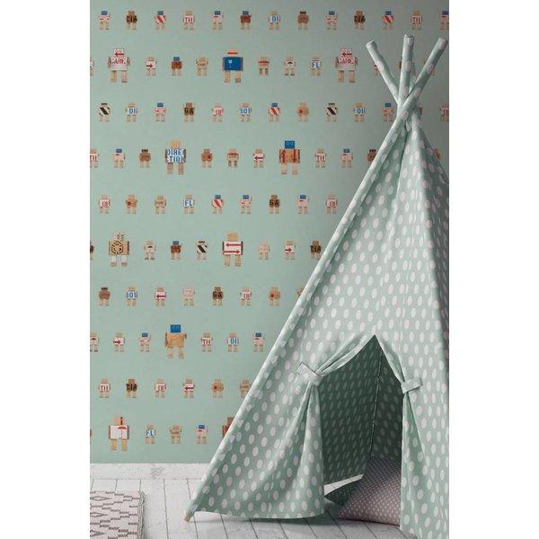 Rijkswachters Robots wallpaper green