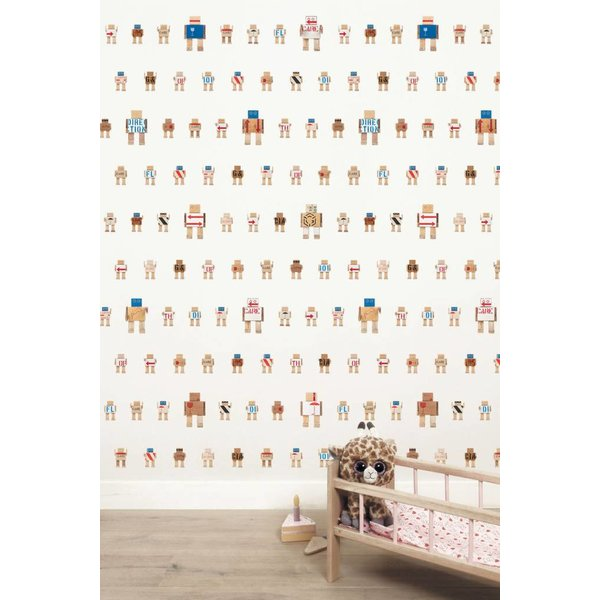 Rijkswachters Robots wallpaper white small