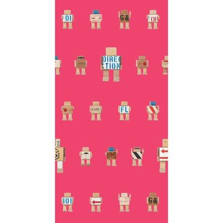 KEK Amsterdam Rijkswachters Robots wallpaper pink small