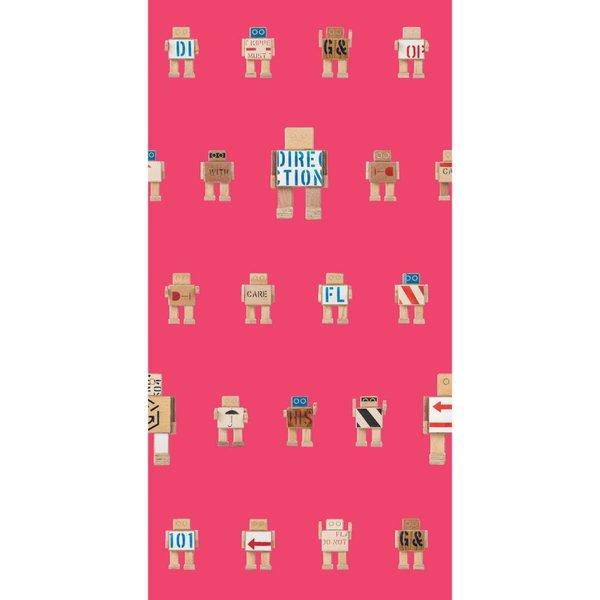 Rijkswachters Robots wallpaper pink small