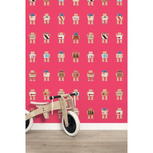 Rijkswachters Robots wallpaper pink