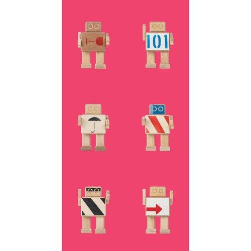 KEK Amsterdam Rijkswachters Robots wallpaper pink