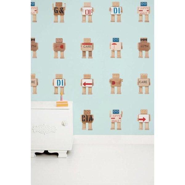 Rijkswachters Robots wallpaper blue
