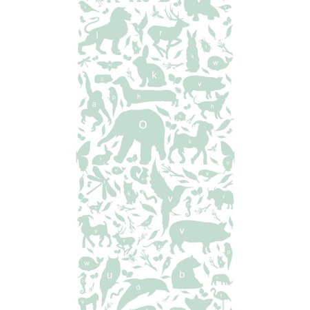 KEK Amsterdam Animals ABC Wallpaper green