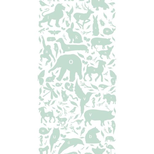 KEK Amsterdam Animals ABC Wallpaper green