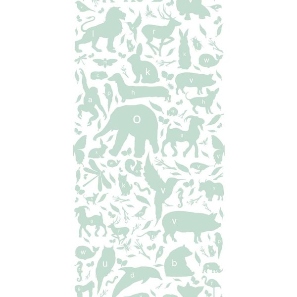 Animals ABC Wallpaper green