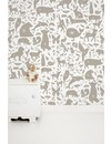 Animals ABC Wallpaper taupe