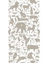 Dieren ABC Behang taupe