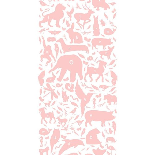 KEK Amsterdam Animals ABC Wallpaper pink