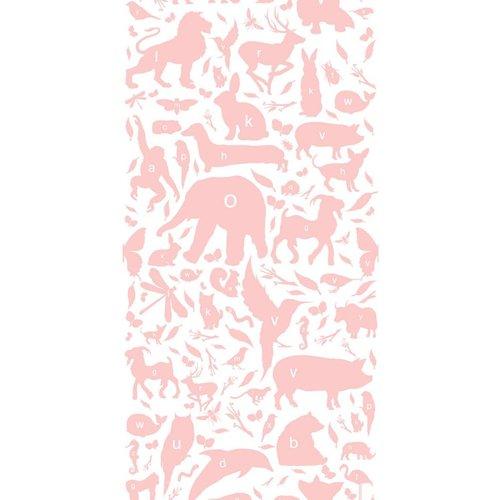 KEK Amsterdam Animals ABC Wallpaper pink