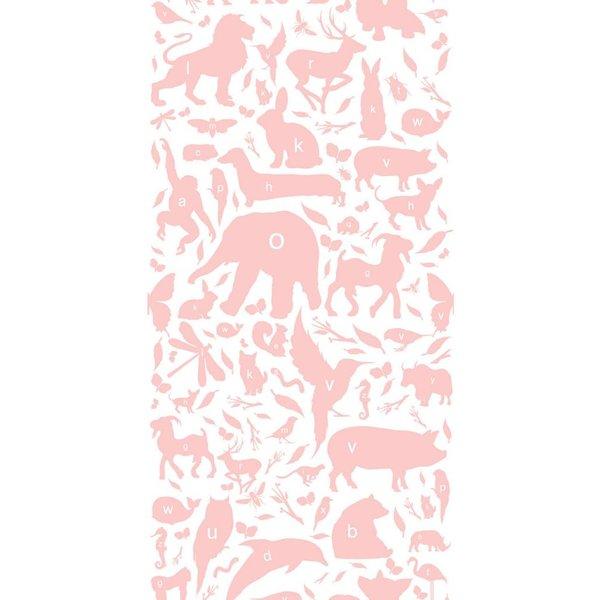 Animals ABC Wallpaper pink