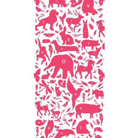 KEK Amsterdam Animals ABC Wallpaper fuchsia