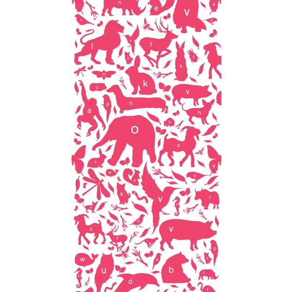 Animals ABC Wallpaper fuchsia