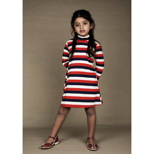 Blockstripe LS Dress multi jurk